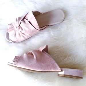 KENNETH COLE REACTION Vanya Blush Pink Suede Slide